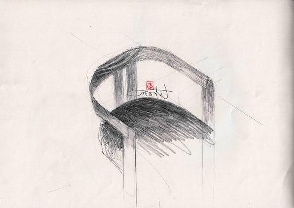 Tobia Scarpa Pigreco Sketch 02