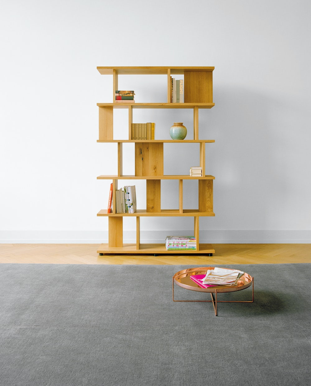 arie shelf in waxed european oak by e15 furniture