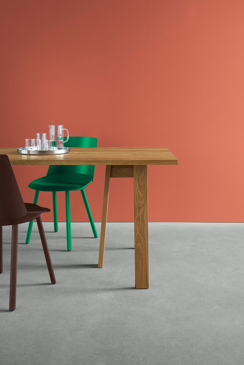 e15 basis trestle table by david chipperfield in oiled oak