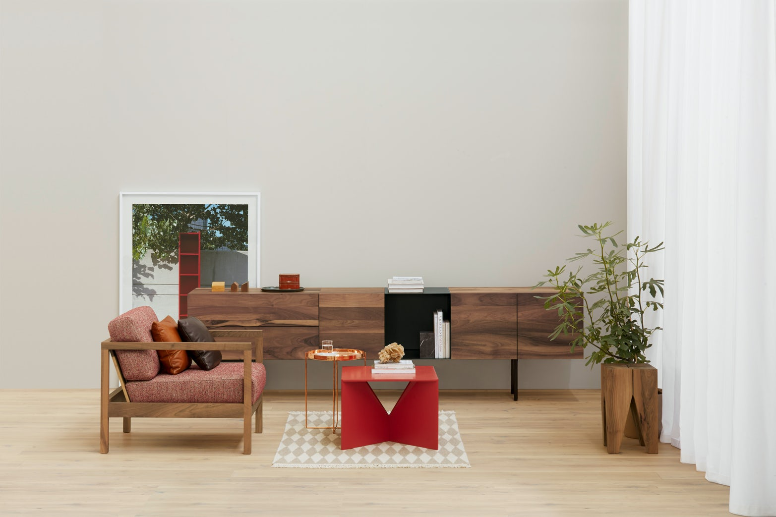calvert coffee table by e15 in living room