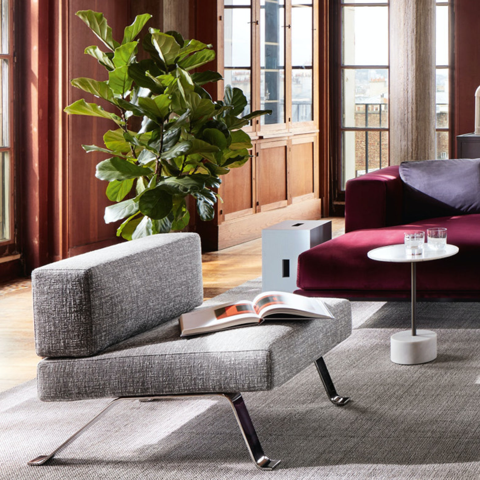 Ombra lounge chair Charlotte Perriand Cassina 2 2