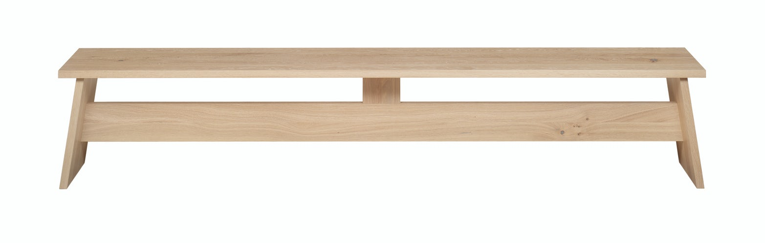 e15 fawley bench in white waxed oak